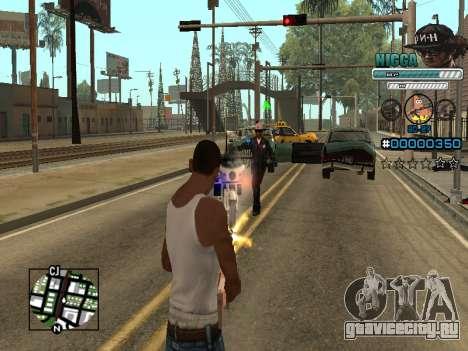 C-HUD Человек в Кепке для GTA San Andreas пятый скриншот