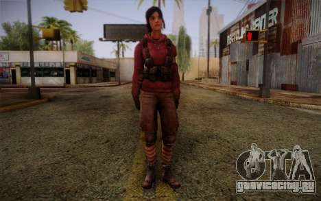 Zoey from Left 4 Dead Beta для GTA San Andreas