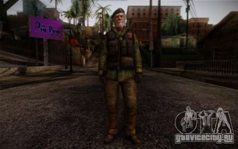 Bill from Left 4 Dead Beta для GTA San Andreas