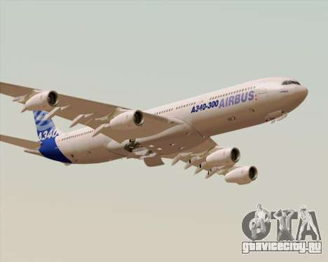 Airbus A340-300 Airbus S A S House Livery для GTA San Andreas вид снизу