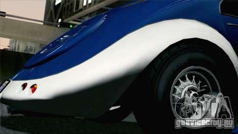 GTA V Truffade Z-Type [HQLM] для GTA San Andreas вид сзади слева