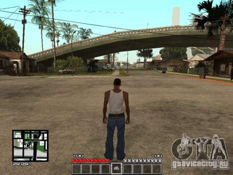 C-Hud Minecraft для GTA San Andreas второй скриншот