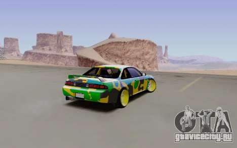 Nissan Silvia S14 Hunter для GTA San Andreas вид сзади слева