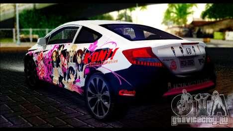 Honda Civic SI 2012 Itasha K-ON для GTA San Andreas вид слева