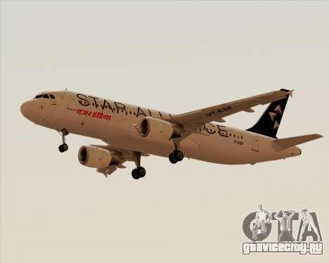 Airbus A320-200 Air India (Star Alliance Livery) для GTA San Andreas вид слева