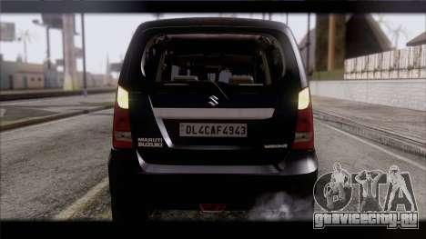 Suzuki Wagon R 2010 для GTA San Andreas вид изнутри