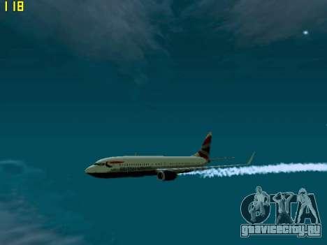 Boeing 737-800 British Airways для GTA San Andreas