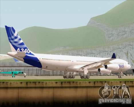 Airbus A340-300 Airbus S A S House Livery для GTA San Andreas вид сзади слева