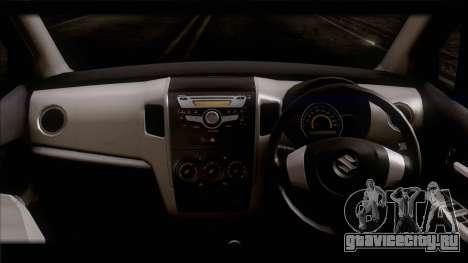 Suzuki Wagon R 2010 для GTA San Andreas вид сзади слева