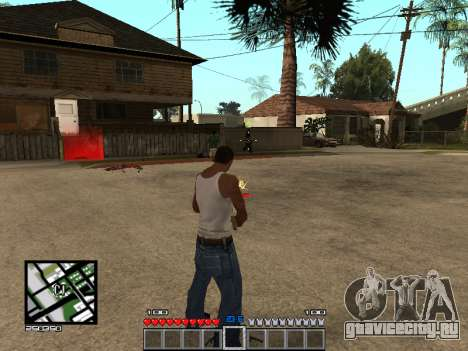 C-Hud Minecraft для GTA San Andreas третий скриншот