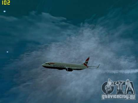 Boeing 737-800 British Airways для GTA San Andreas вид сзади слева