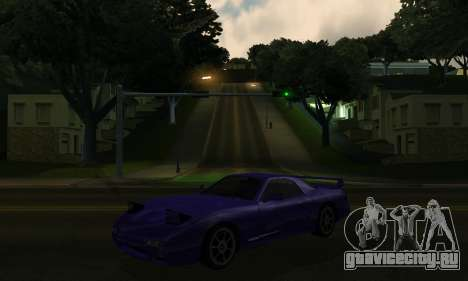 Beta ZR-350 для GTA San Andreas вид изнутри
