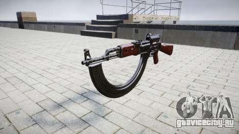 Автомат АК-47 Collimator and HICAP target для GTA 4