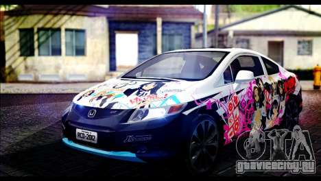 Honda Civic SI 2012 Itasha K-ON для GTA San Andreas