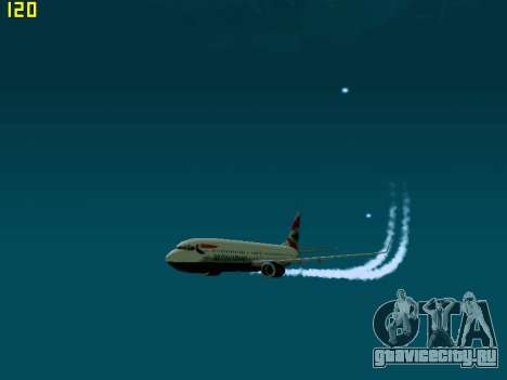 Boeing 737-800 British Airways для GTA San Andreas вид слева