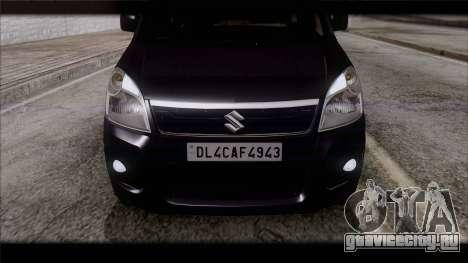 Suzuki Wagon R 2010 для GTA San Andreas вид сзади