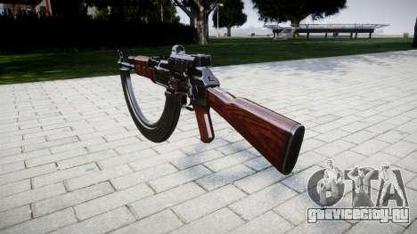 Автомат АК-47 Collimator and HICAP target для GTA 4 второй скриншот