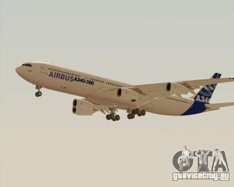 Airbus A340-300 Airbus S A S House Livery для GTA San Andreas вид справа