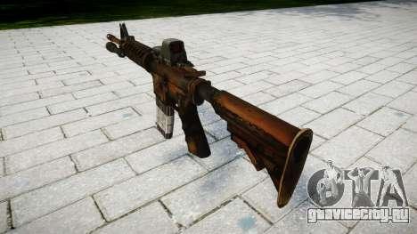 Тактический автомат M4 target для GTA 4 второй скриншот