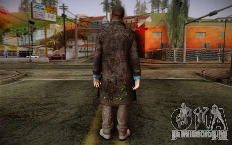 Aiden Pearce from Watch Dogs v3 для GTA San Andreas второй скриншот