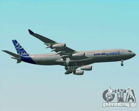 Airbus A340-300 Airbus S A S House Livery для GTA San Andreas вид сверху