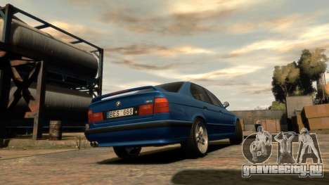 BMW M5 E34 1995 для GTA 4 вид слева