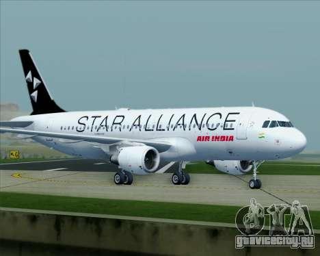 Airbus A320-200 Air India (Star Alliance Livery) для GTA San Andreas вид сверху