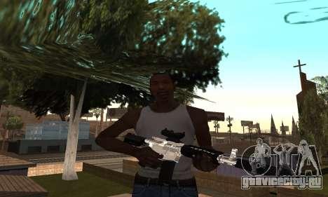 Chrome M4 для GTA San Andreas второй скриншот