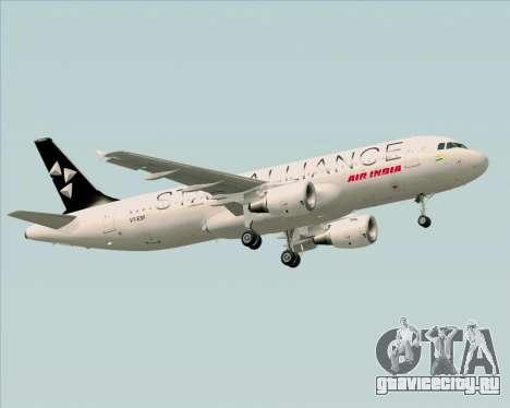 Airbus A320-200 Air India (Star Alliance Livery) для GTA San Andreas колёса