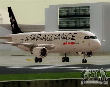 Airbus A320-200 Air India (Star Alliance Livery) для GTA San Andreas
