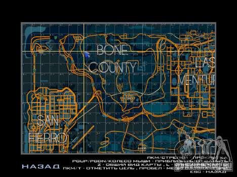 Карта с секторами в гоночном стиле для GTA San Andreas третий скриншот