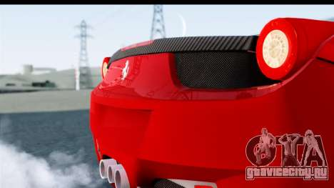 Ferrari 458 Italia Stanced для GTA San Andreas вид справа