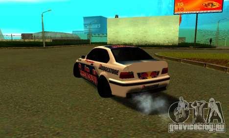 BMW M3 E36 RedBull для GTA San Andreas вид сзади слева
