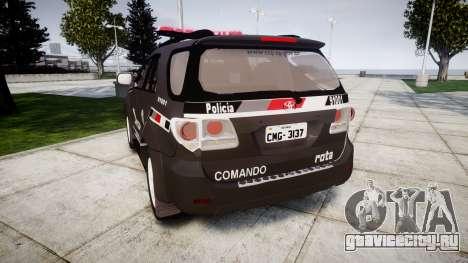 Toyota Hilux SW4 2015 ROTA [ELS] для GTA 4 вид сзади слева