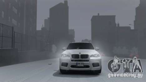 BMW X5M 2011 для GTA 4 вид сзади слева
