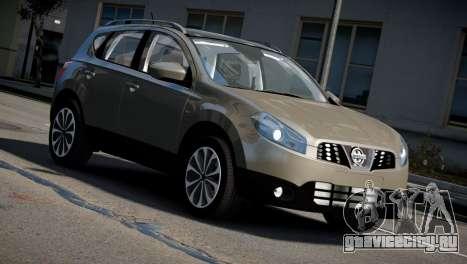 Nissan Qashqai 2011 для GTA 4 вид справа