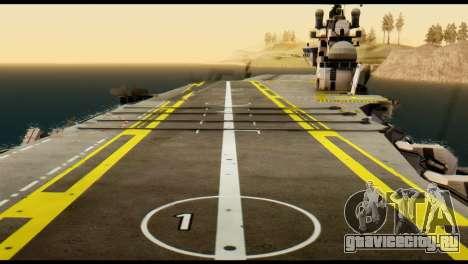 Colossus Aircraft Carrier для GTA San Andreas вид сзади слева