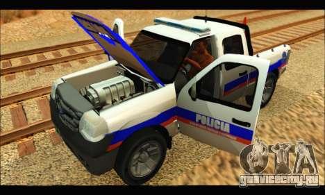 Ford Ranger 2011 Policia Bonaerense для GTA San Andreas вид справа