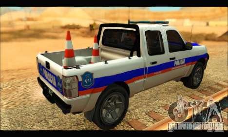 Ford Ranger 2011 Policia Bonaerense для GTA San Andreas вид слева
