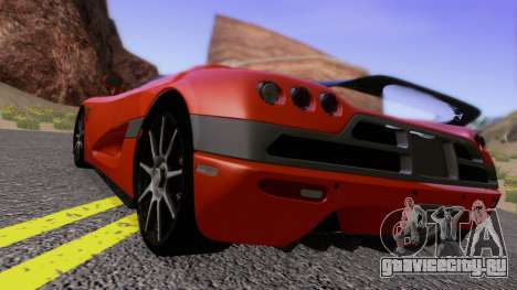 Koenigsegg CCX 2006 Road Version для GTA San Andreas вид сзади слева