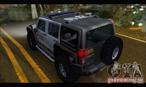 Hummer H3 Police для GTA San Andreas вид сзади слева