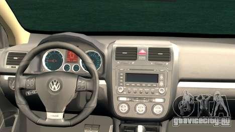 Volkswagen Golf Mk5 для GTA San Andreas вид сзади слева
