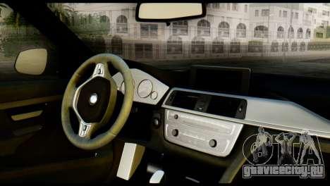 BMW 3 Touring F31 2013 1.0 для GTA San Andreas вид сзади слева