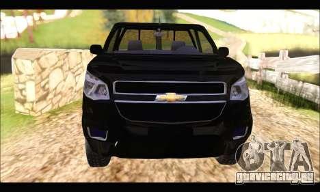 Chevrolet S10 Cabina Simple 2014 для GTA San Andreas вид справа