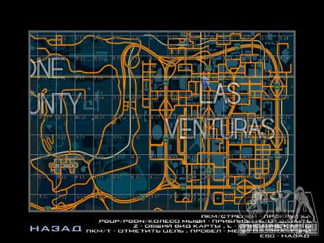 Карта с секторами в гоночном стиле для GTA San Andreas