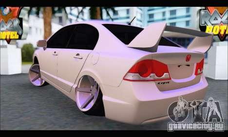 Honda Civic Korea Style для GTA San Andreas вид сзади слева