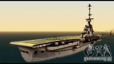 Colossus Aircraft Carrier для GTA San Andreas вид слева