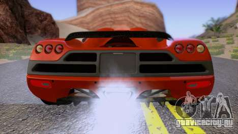 Koenigsegg CCX 2006 Road Version для GTA San Andreas вид сбоку