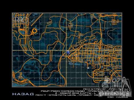 Карта с секторами в гоночном стиле для GTA San Andreas второй скриншот