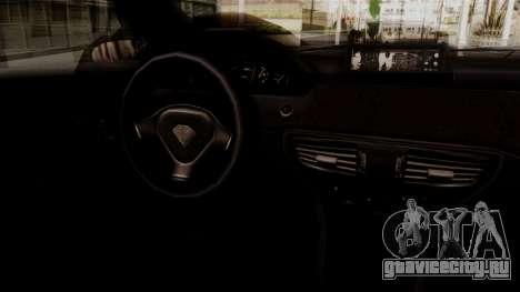 GTA 5 Schafter для GTA San Andreas вид сзади слева